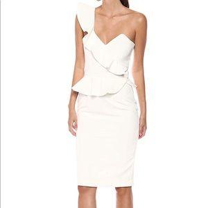 NWT Nordstrom Camellia Bardot One Shoulder Dress